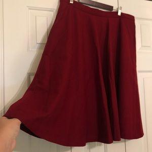 Pink Martini (PUG) Burgundy Midi Skirt